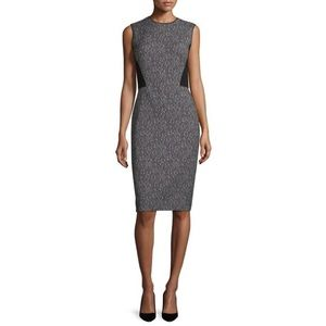 Lafayette 148 NY Marilyn Speckled Colorblock Dress